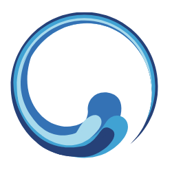 Water icon swirling in circle